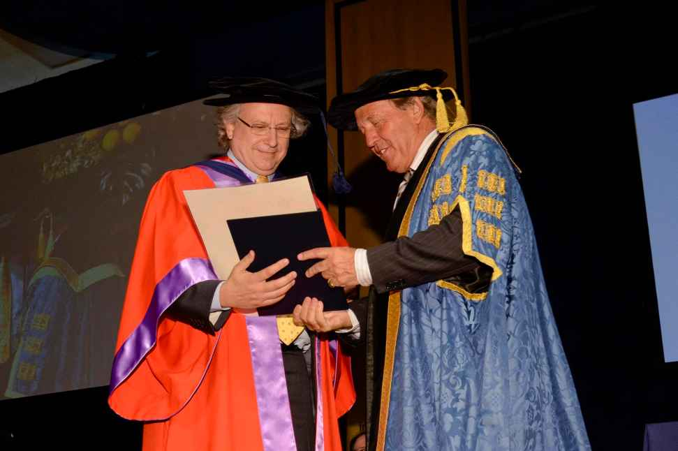 Emeritus Professor Rodney Brooks receiving his Honorary degree