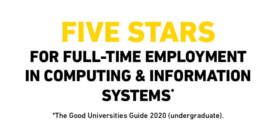 Five stars for full-time employment in Computing & Information Systems