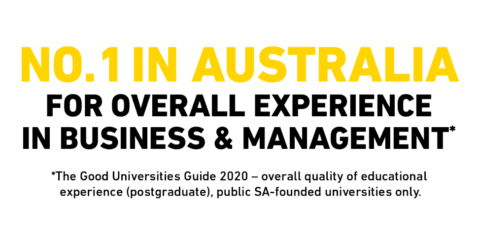 No 1 in Australia for overall experience in Business & Management