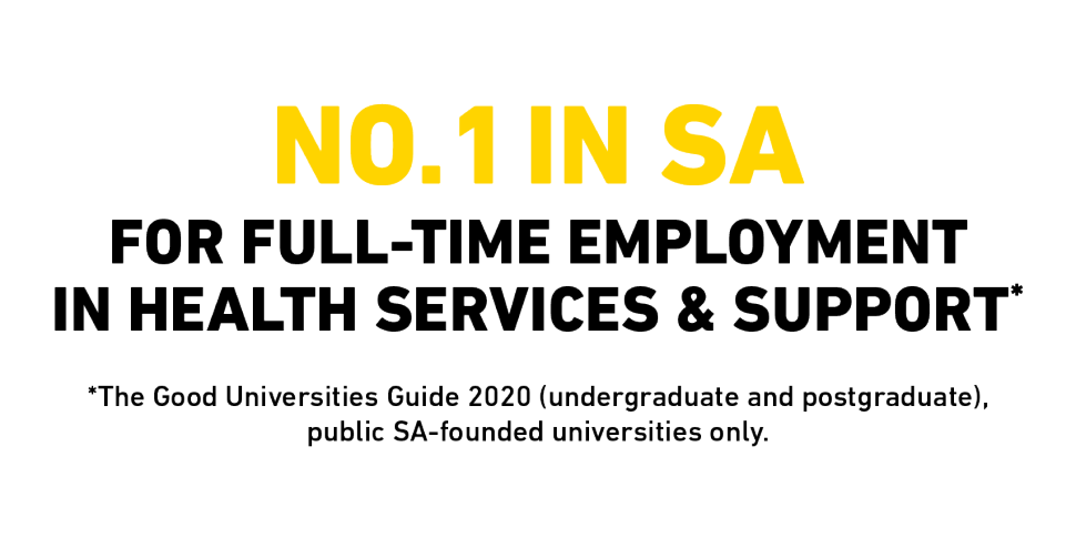 No.1 in SA for full-time employment in Health Services & Support