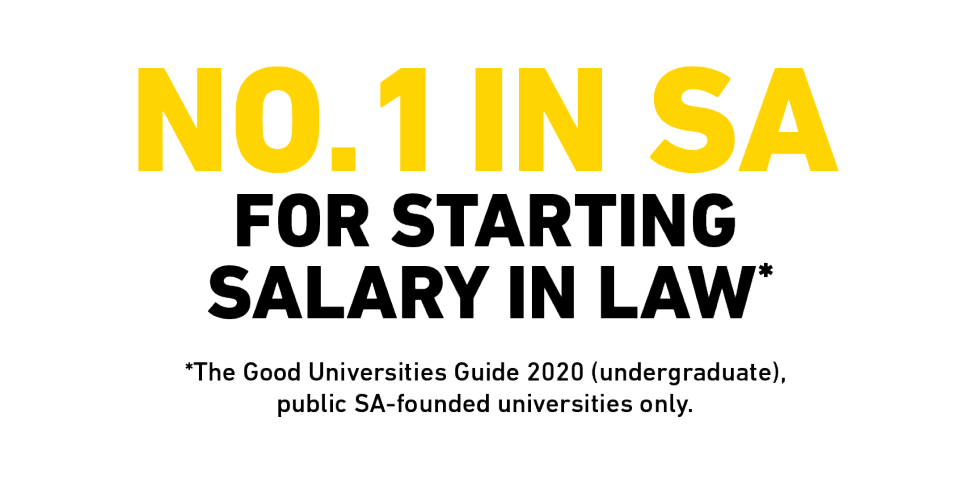 No 1 in South Australia for starting salary in Law