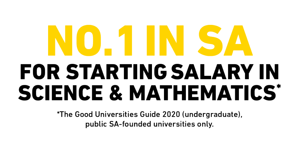 No. 1 in SA for starting salary in Science & Mathematics