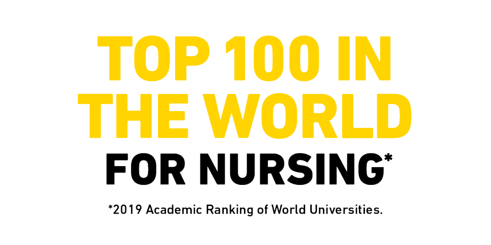 Top 100 in the world for Nursing