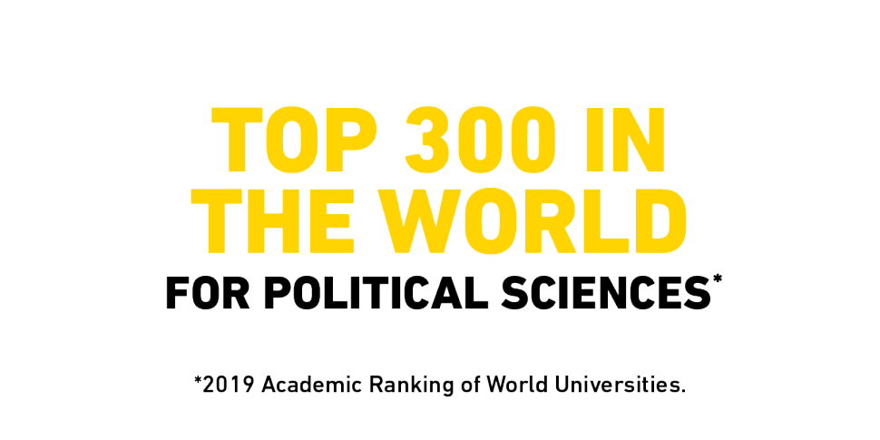 Flinders University is ranked in the top 300 in the world for Political Sciences