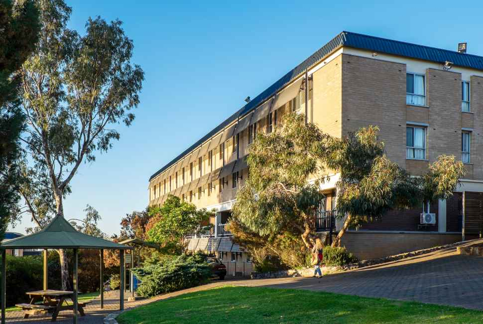 University Hall accommodation on campus